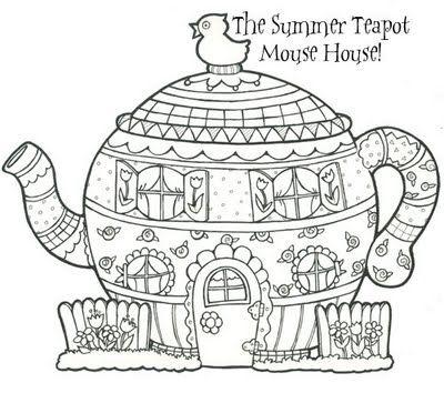 Marginalia New Mouse House Summer Teapot Desenhos Para