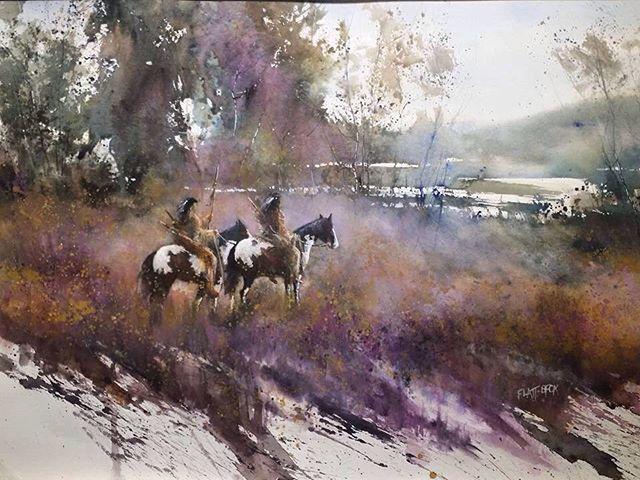 Author Graham Flatt Art Watercolor Aquarelle Akvarell