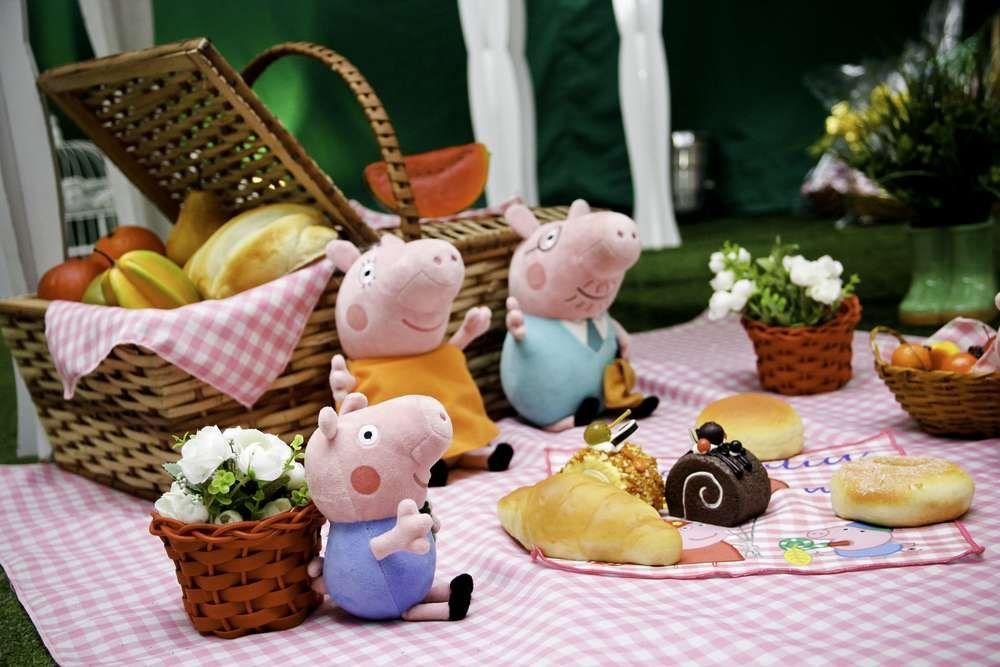 Piquenique da Ana Julia com a turma da Peppa Pig! | CatchMyParty.com