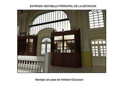 Diseños e infografias: Estacion Internacional de Canfranc. Diseño Interior 3D