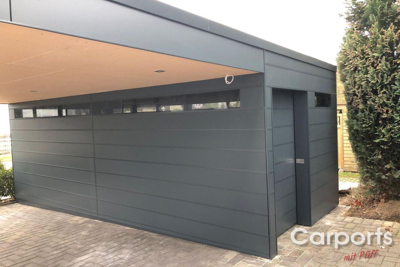 Carport Bauhaus Hpl Mit Abstellraum In 2020 Carport Mit Abstellraum Carport Doppelcarport Mit Abstellraum