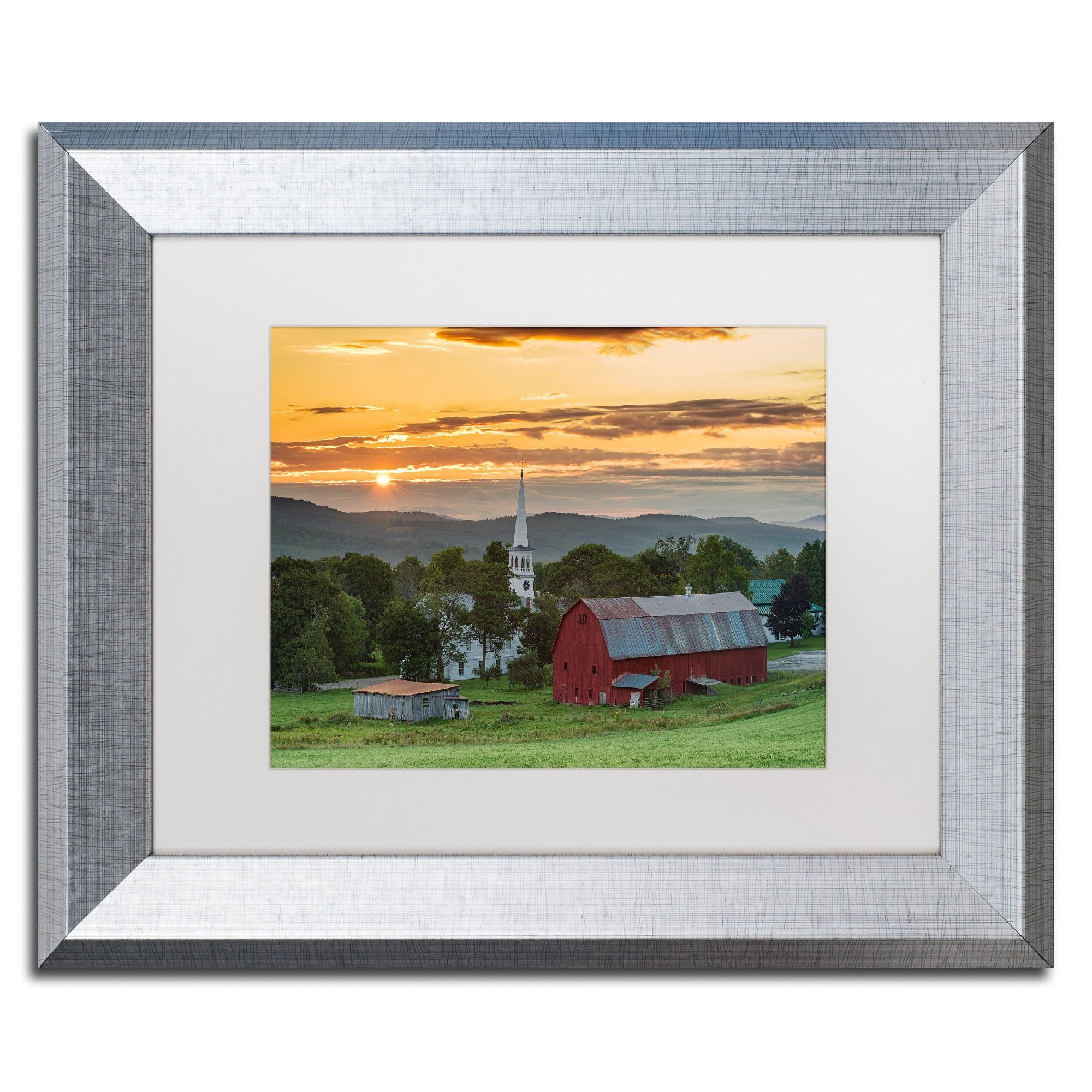 Michael Blanchette Photography \'A Farm and A Prayer\' Matted Framed ...