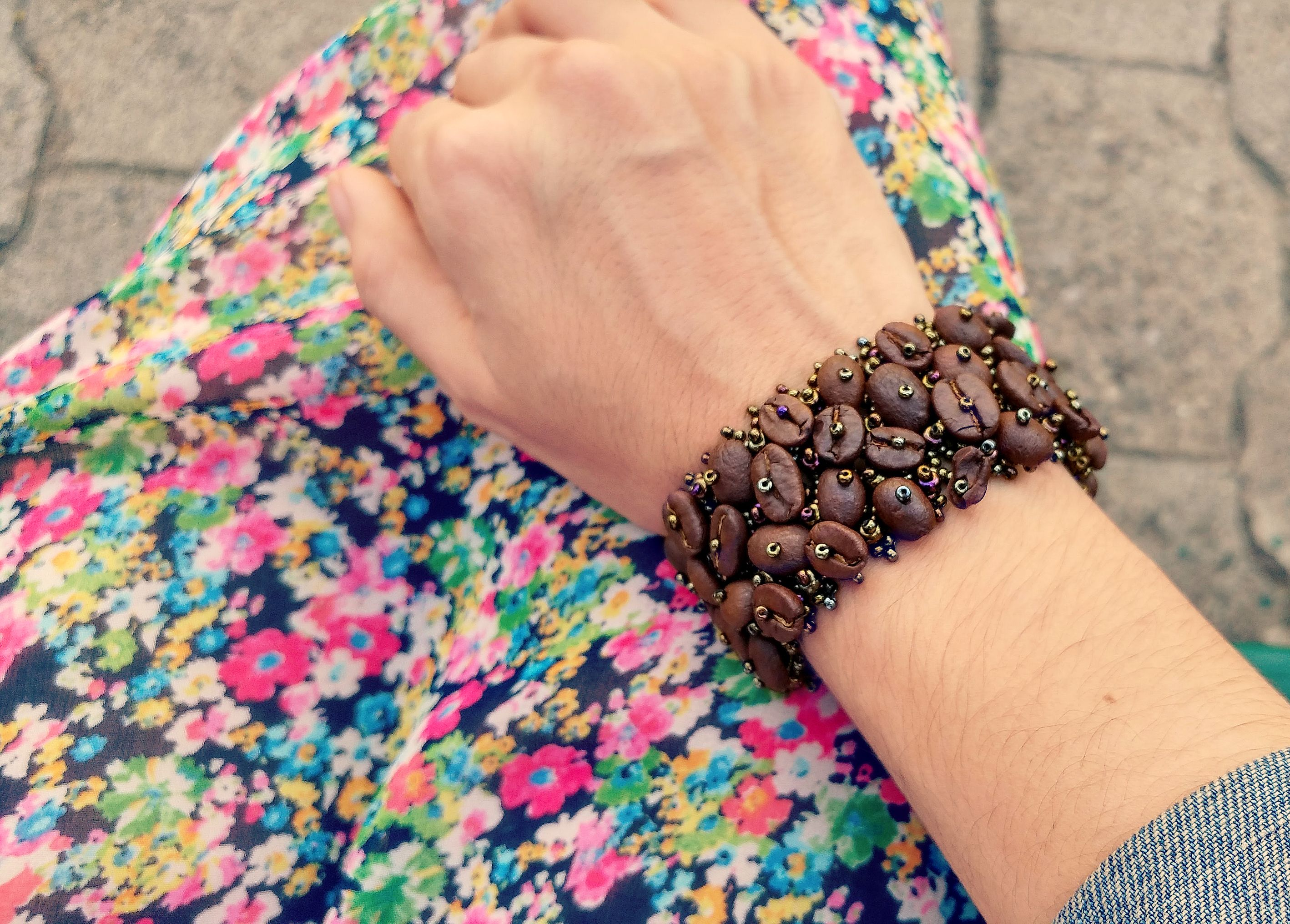 For all the coffee lovers around the world, beautiful bohemian bracelets handmade with real coffee beans from Guatemala.