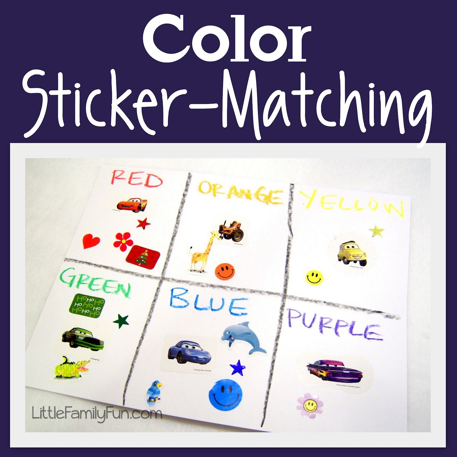 Color Sticker Matching Good Fine Motor Skills Practice Peeling And Sticking Stickers And