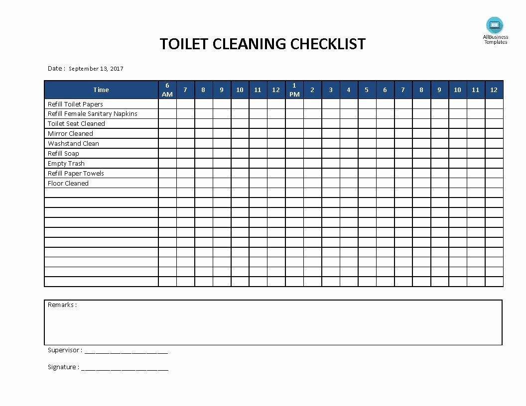 Bathroom Cleaning Checklist Template Unique Free Toilet Cleaning Checklist In 2020 Cleaning Checklist Template Cleaning Checklist Toilet Cleaning