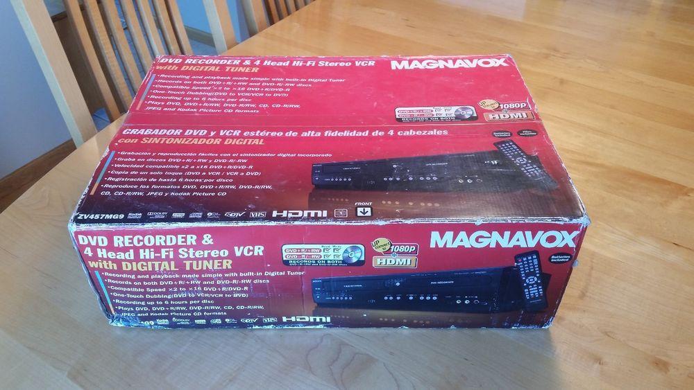 Magnavox ZV457MG9 DVD Recorder VCR Player Combo Digital Tuner NIB