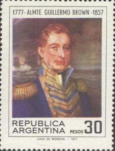 Guillermo Brown 1777 1857 Sellos Filatelia Sellos Postales