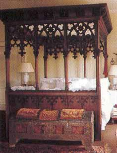 Victorian Gothic Four Poster Bed