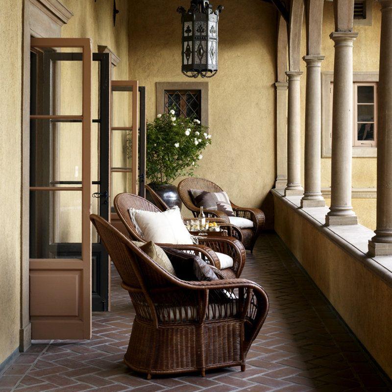 Wonderful Ralph Lauren Living Room Conservatory Garden Wicker Lounge Chair 016 03    Greenbaum Interiors