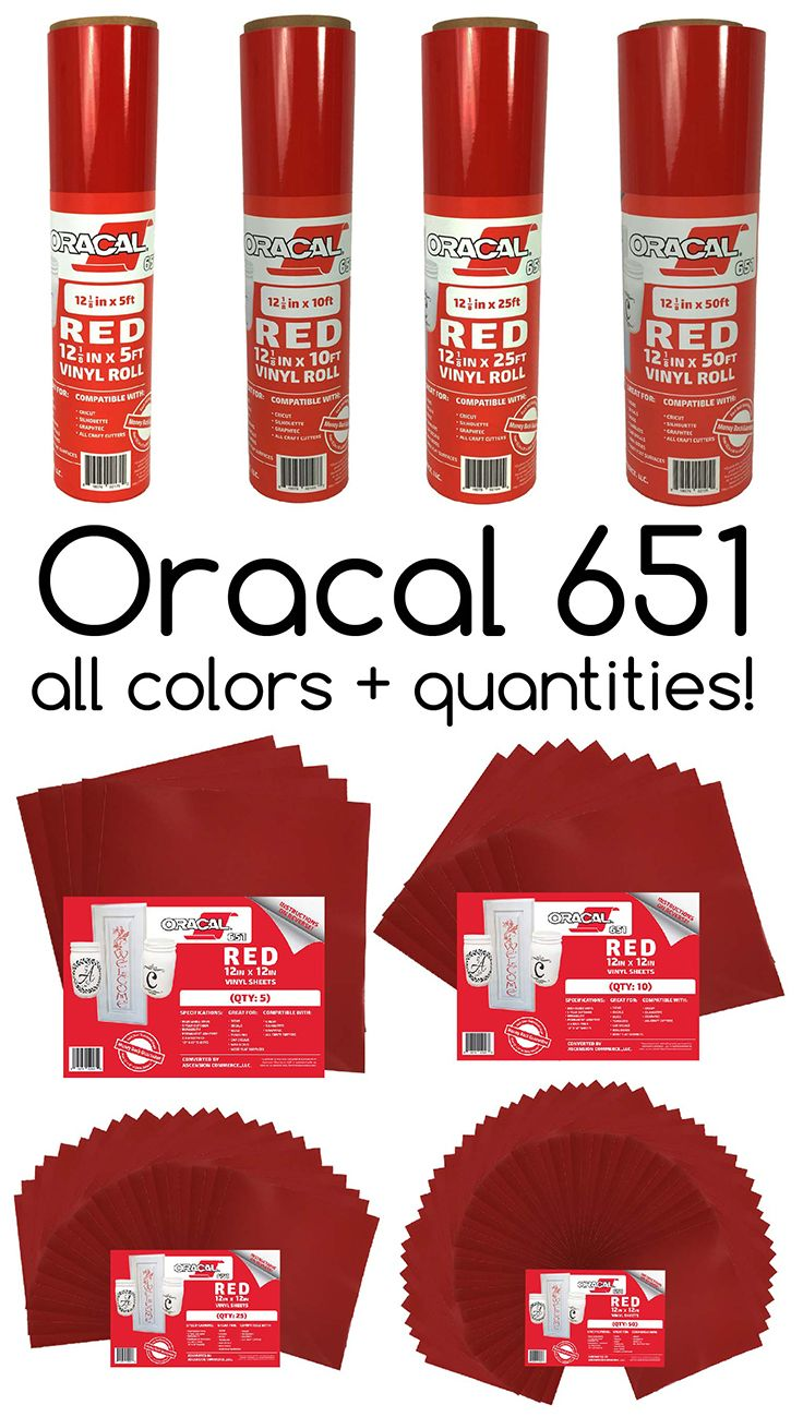 Oracal 651 Vinyl Now Offered In 5 10 25 And 50 Rolls Or Sheet Packs Choose From 63 Unique Colors Cricut Vinyl Vinyl