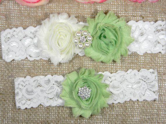 Check out this item in my Etsy shop https://www.etsy.com/listing/261786170/light-green-wedding-garter-bridal-garter