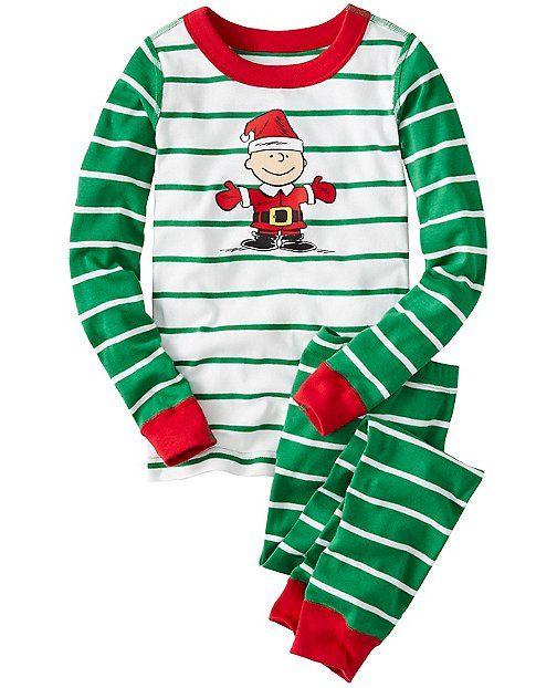 Kids Peanuts Long John Pajamas In Organic Cotton from #HannaAndersson.