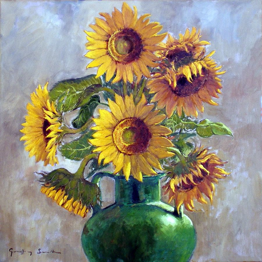 Paintings Of Sunflowers In A Vase Qbr9xs9s Jpg