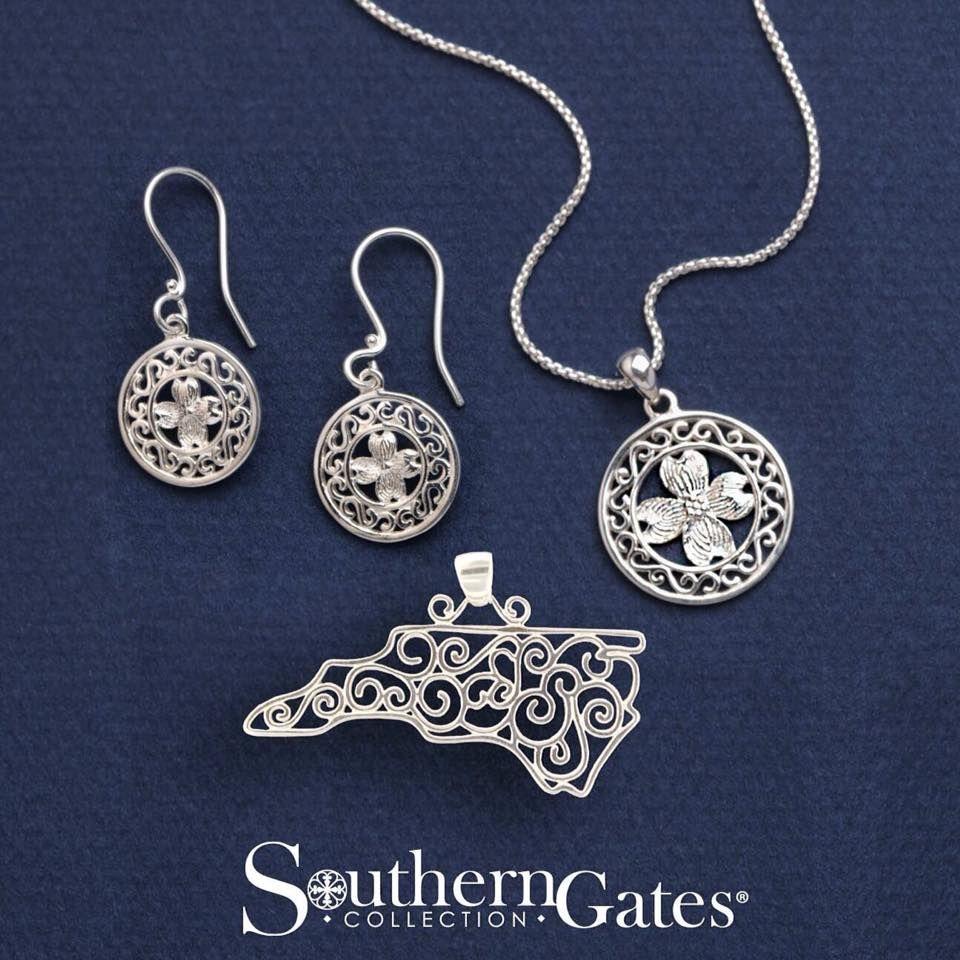 Southern Gates Jewelry North Carolina And Dogwood Flower