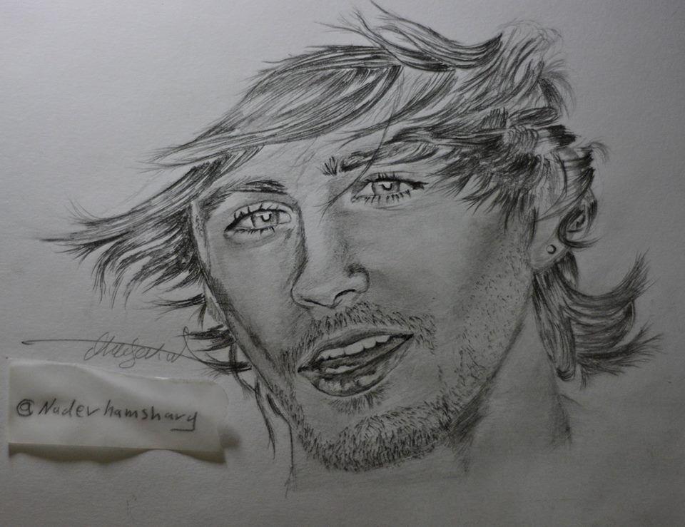 رسمتي بالرصاص للمغني زين مالك نادر الهمشري Art Drawings Art Male Sketch