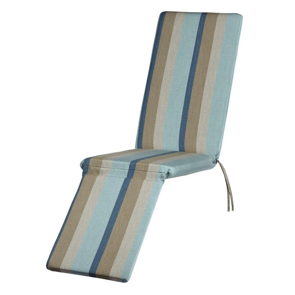 home decorators collection sunbrella gateway mist outdoor chaise lounge cushion - Home Decorators Outdoor Cushions