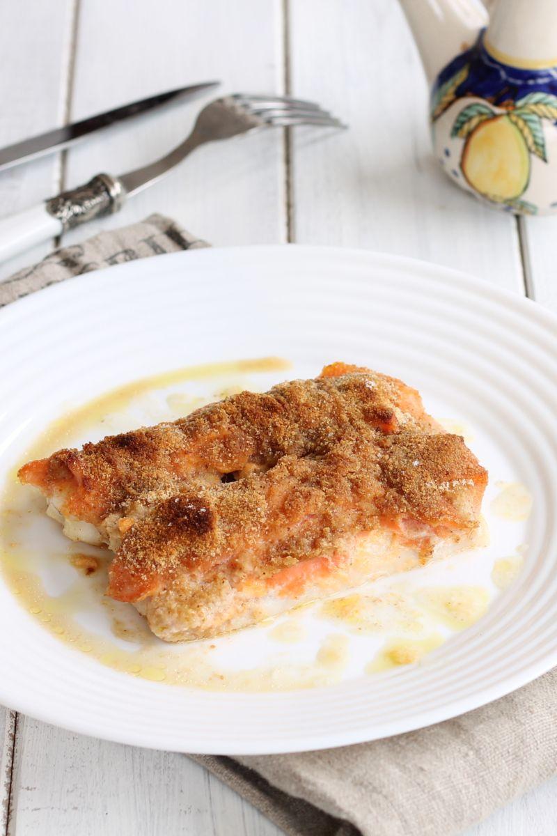 Merluzzo Al Forno Con Salmone Ricetta Pesce Gratinato Al Forno