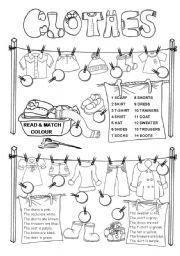 ESL Beginner Clothes/Weather Vocabulary Worksheets! | Teaching Ideas