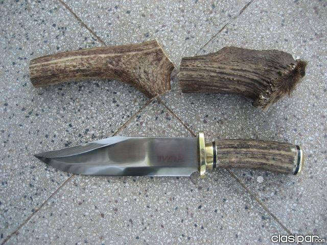 Cuchillo Artesanal Encabado En Ciervo Cuchillos Artesanales Cuchillos Cuchillos Geniales