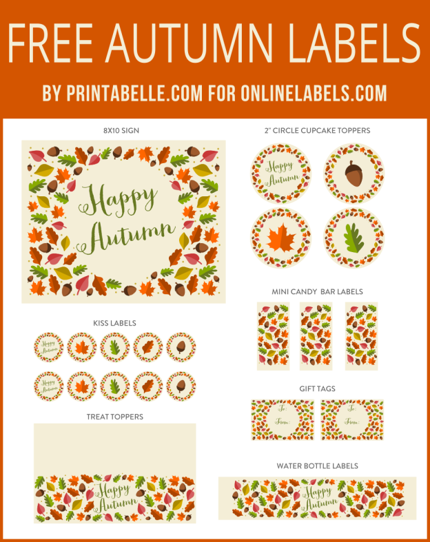 photograph regarding Free Printable Fall Leaves referred to as Thanksgiving Autumn Leaf Totally free Printables! Absolutely free Label