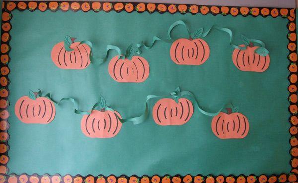 fall+bulletin+board+ideas+for+preschool | Pumpkin Bulletin Board | MyClassroomIdeas.com #pumpkinpatchbulletinboard