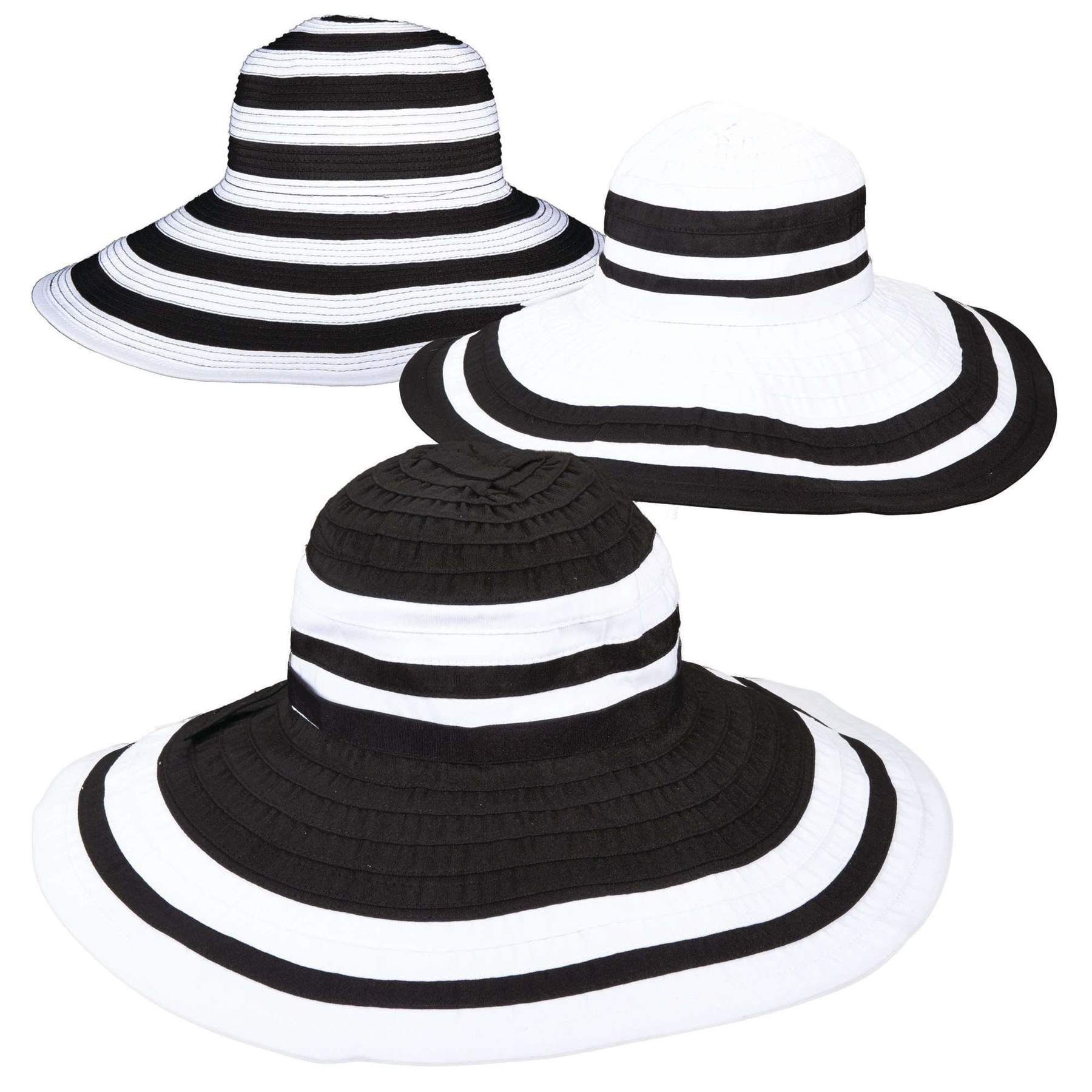 b827c7d6 Scala Large Brim Black and White Hat in 2019   2020 Accessories ...
