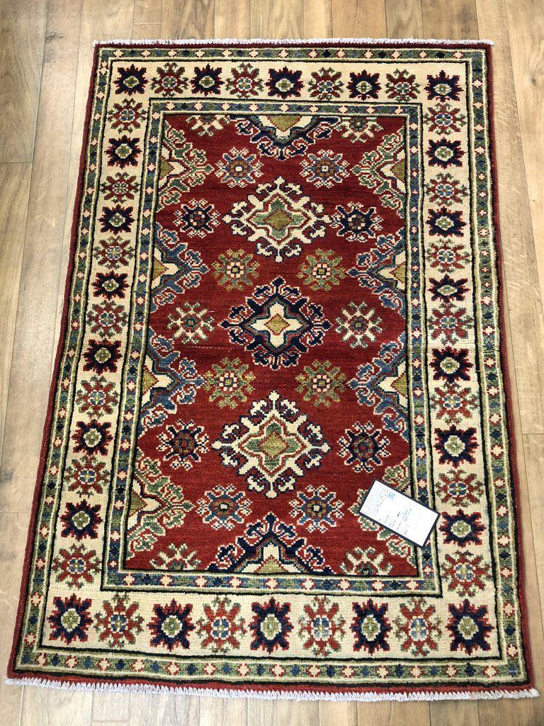 21059 Kazak Hand Knotted Handmade Afghan Rug Carpet Tribal Nomadic Authentic Afghan Rugs Rugs On Carpet Rugs