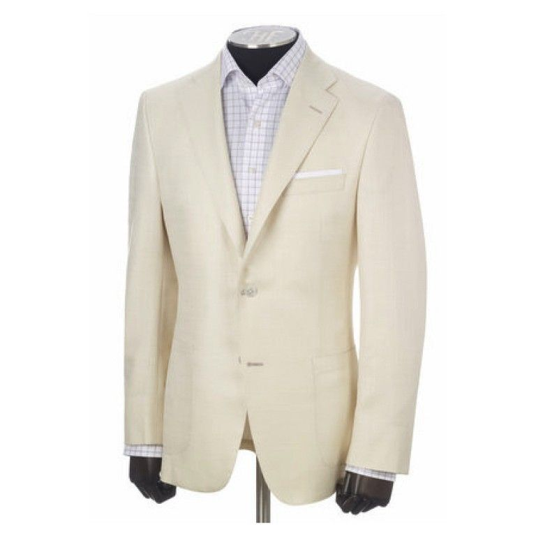 Hickey Freeman – Suits & Sport Coats – white silk blend sport coat ...
