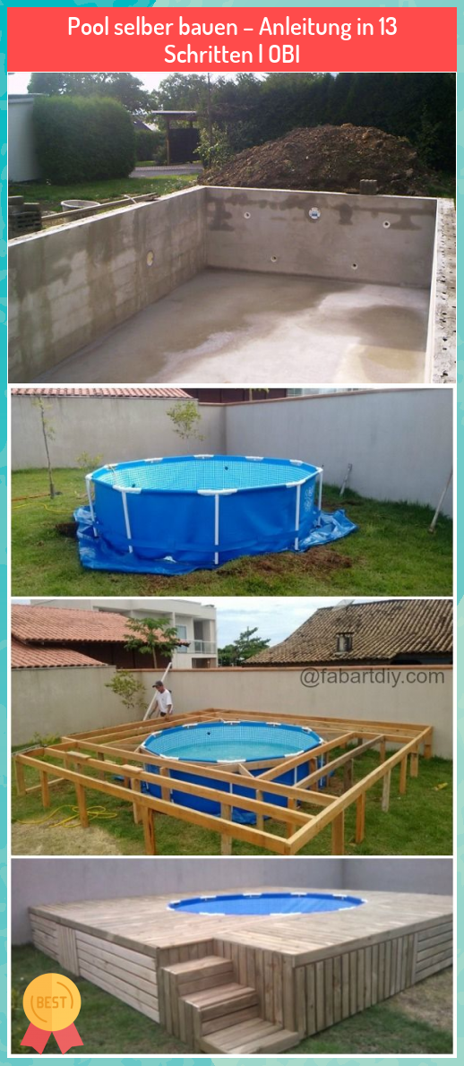 Pool Selber Bauen Anleitung In 13 Schritten Obi My Blog In 2020 In Ground Pools Pool Above Ground Pool