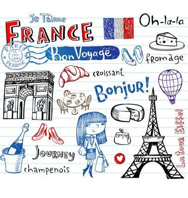 Symbols Of France Vector 735772 By Azzzya On Vectorstock Paris