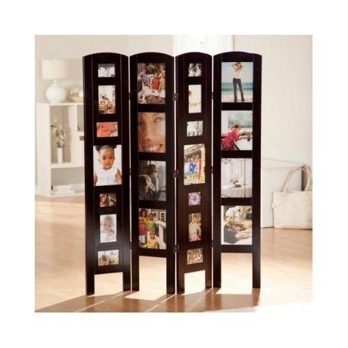 Picture frame photo album room divider decoration wooden for Studio room divider