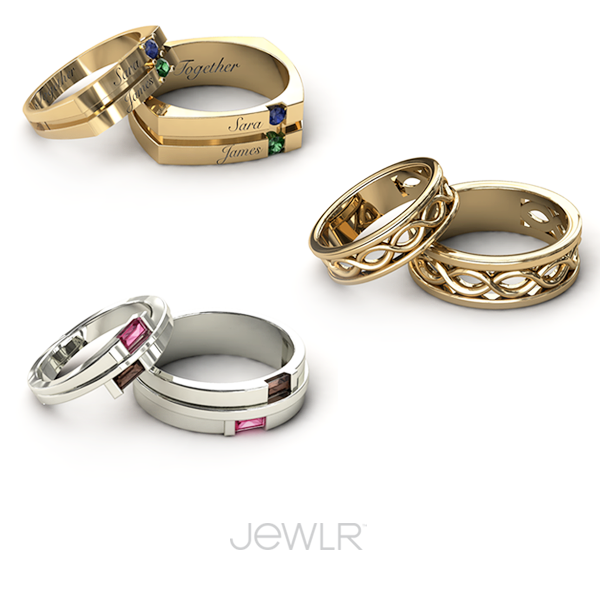 Show your love with personalized couple rings, for both ...