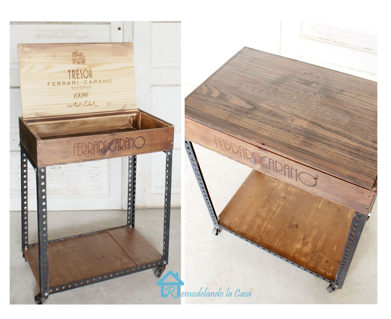 Diy Industrial Side Table Wine Crate Furniture Industrial Side Table Crate End Tables