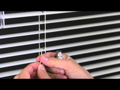 How To Shorten Mini Blinds Levolor Aluminum And Vinyl Blinds Blinds Com Diy Youtube Mini Blinds Blinds Vinyl Blinds
