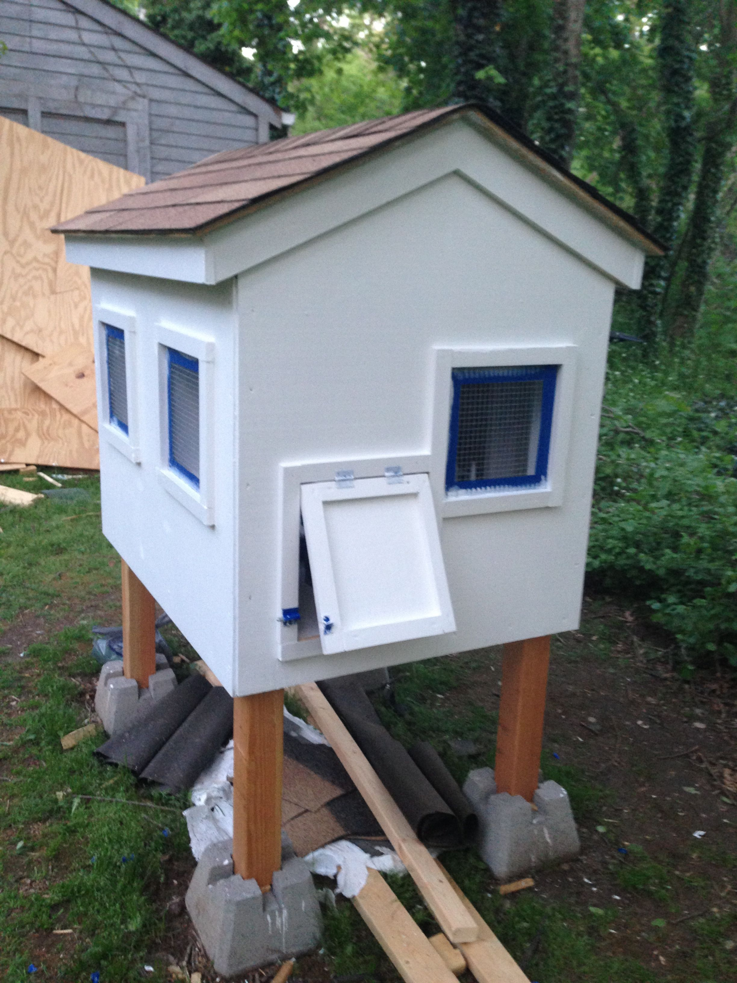 A colorful, DIY chicken coop plan with an attached run- a ...