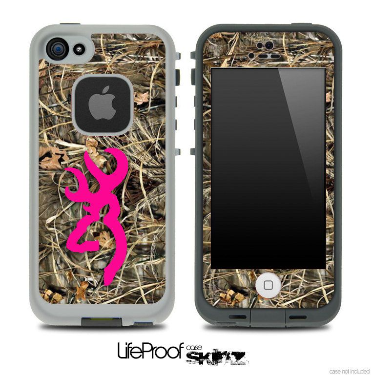 Camo Hot Pink Browning iphone case