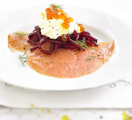 Smoked salmon with beetroot vodka crme frache recipe smoked salmon with beetroot vodka crme frache recipe pinterest smoked salmon beetroot and christmas dinner starters forumfinder Image collections