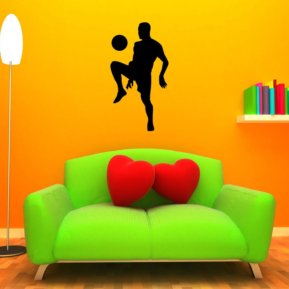 Soccer Decal LARGE Wall Mural Sticker Kids Room Boys Bedroom Sports ...