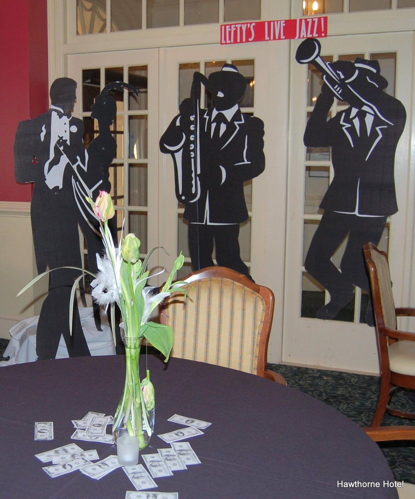 Jazz Table Decorations Hawthorne Hotel Food and Decor