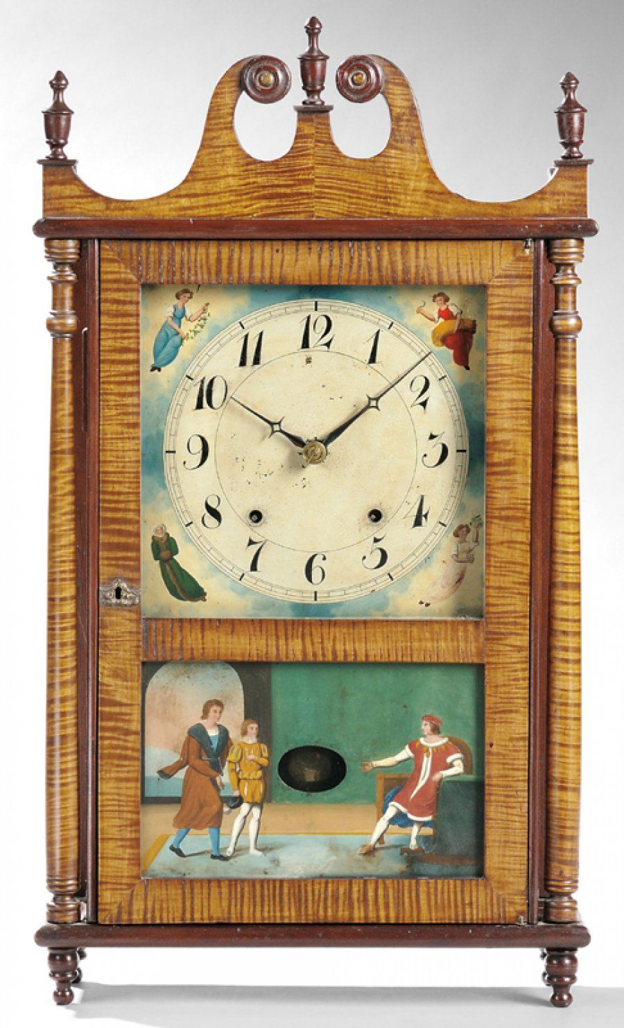 Merveilleux Basic Wooden Works Pillar And Scroll Mahogany Shelf Clocks Have Plummeted  In Value Recently
