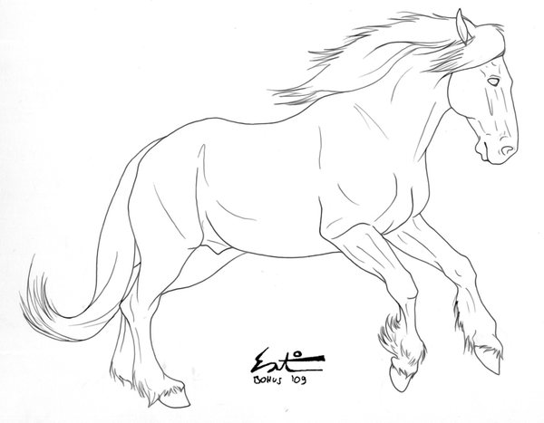 I Ve Been Getting Too Many People Asking To Use My Lineart Outside Of Deviant Art Even When The Rules H Horse Coloring Pages Horse Coloring Books Horse Sketch