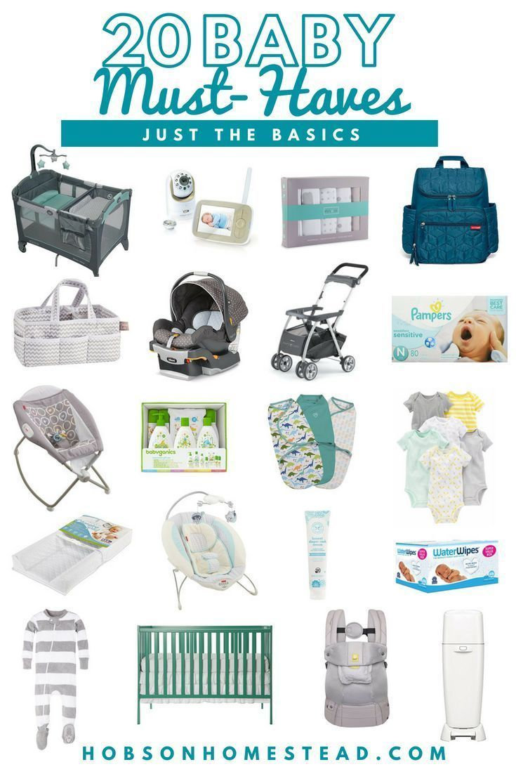 If you are expecting and want to make sure you have the basic baby essentials ready for bringing home a newborn, check out my list of 20 Baby Must-Haves. #baby #newborn #babyessentials #babyitems