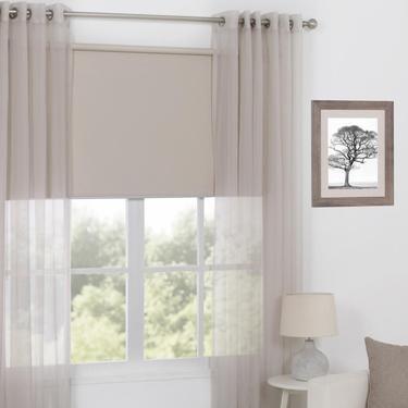 Caprice Orlando Eyelet Curtains Stone 300 X 223 Cm