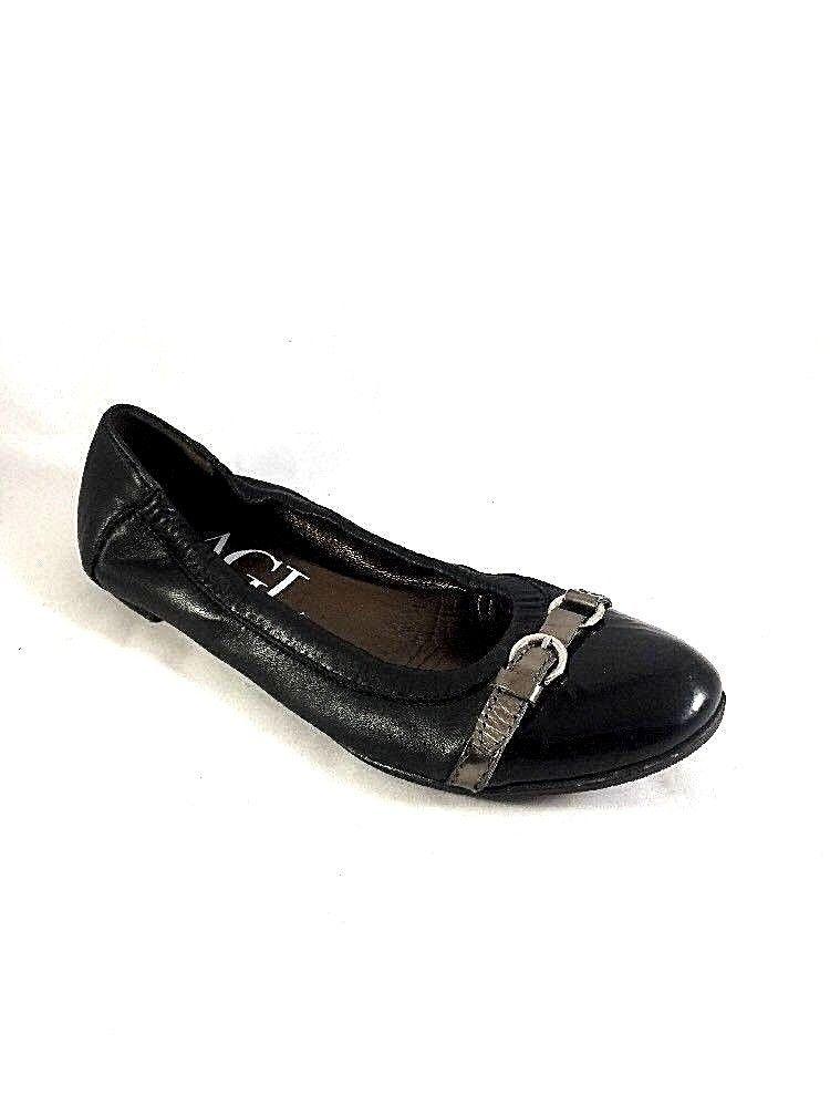 c62c3c081c AGL ATTILIO GIUSTI LEOMBRUNI Ballet Flat Black Cap Toe Patent Leather 38 8  Silve #AGL #BalletFlats #Casual