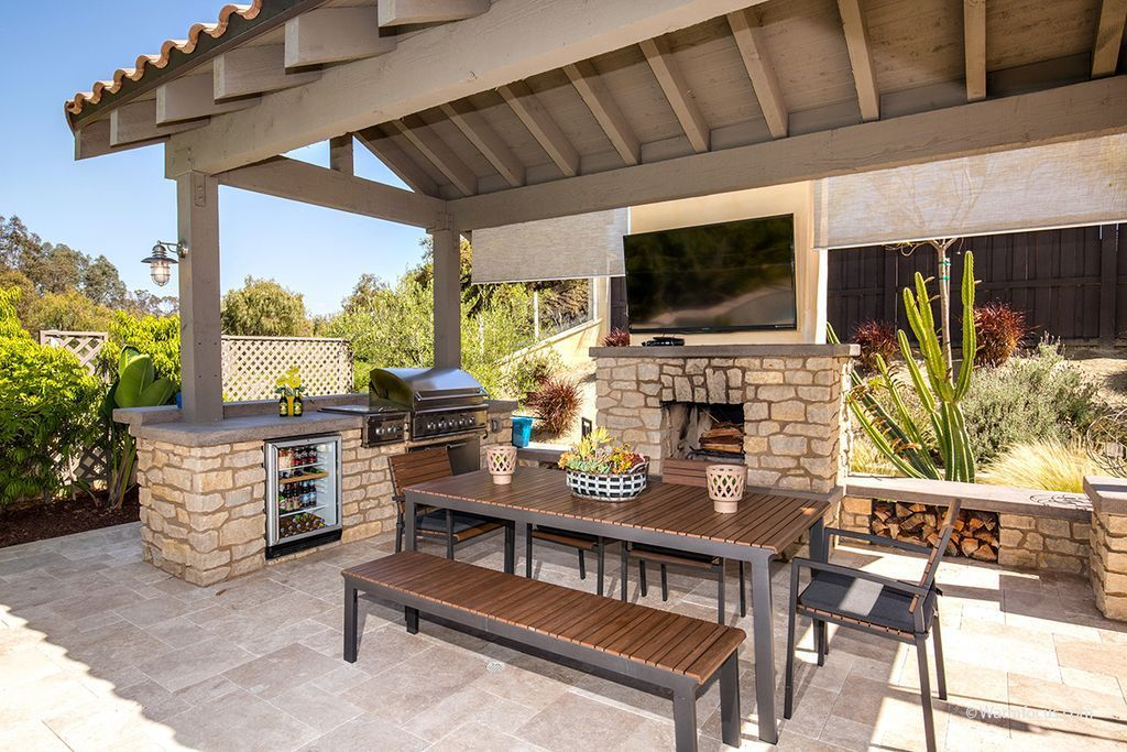 20 outdoor kitchen ideas enjoying fresh air and sunlight patio layout simple outdoor on outdoor kitchen easy id=19560