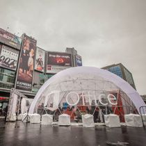Dome built in Dundas Square for Microsoft Office Event