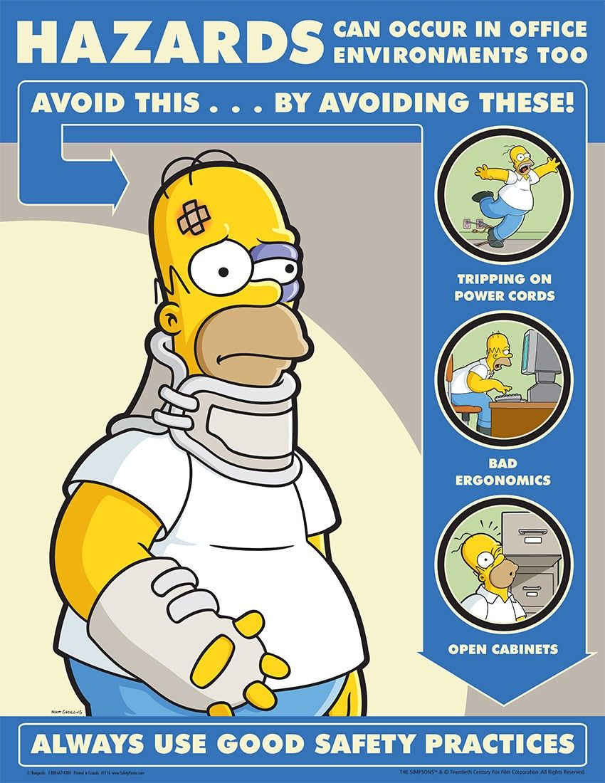 Avoid hazards in office environments safety first is