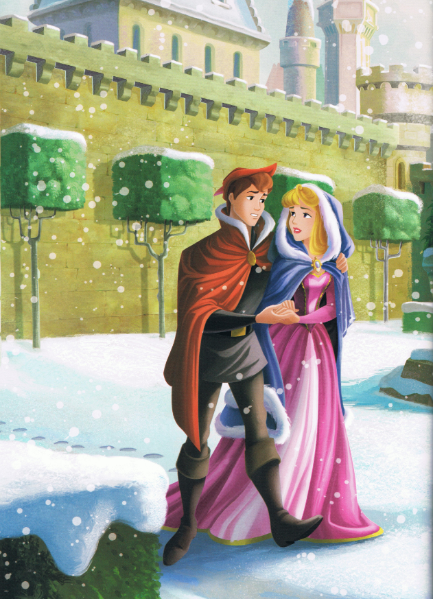 """Aurora's Homemade Holiday"" - prettyful DP Christmas book, scans part II - Disney Princesses"