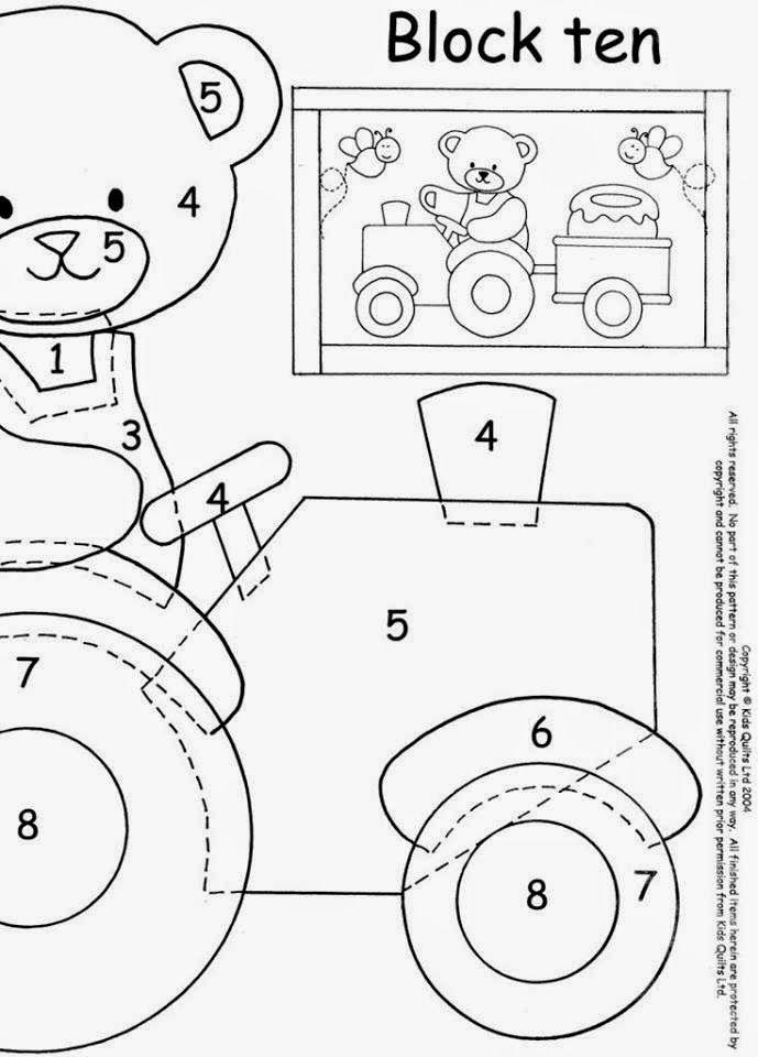 Entretelas y patchwork: Patrones para aplicaciones | cartucheras y ...
