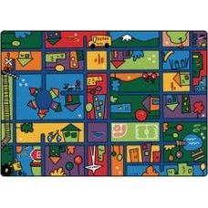 Kids Rugs Funky Town Road Rug 7 8 X 10